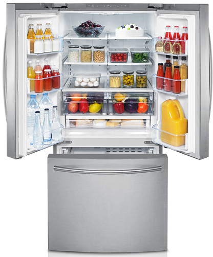 Samsung Rf221nctasr 21 8 Cu Ft French Door Refrigerator