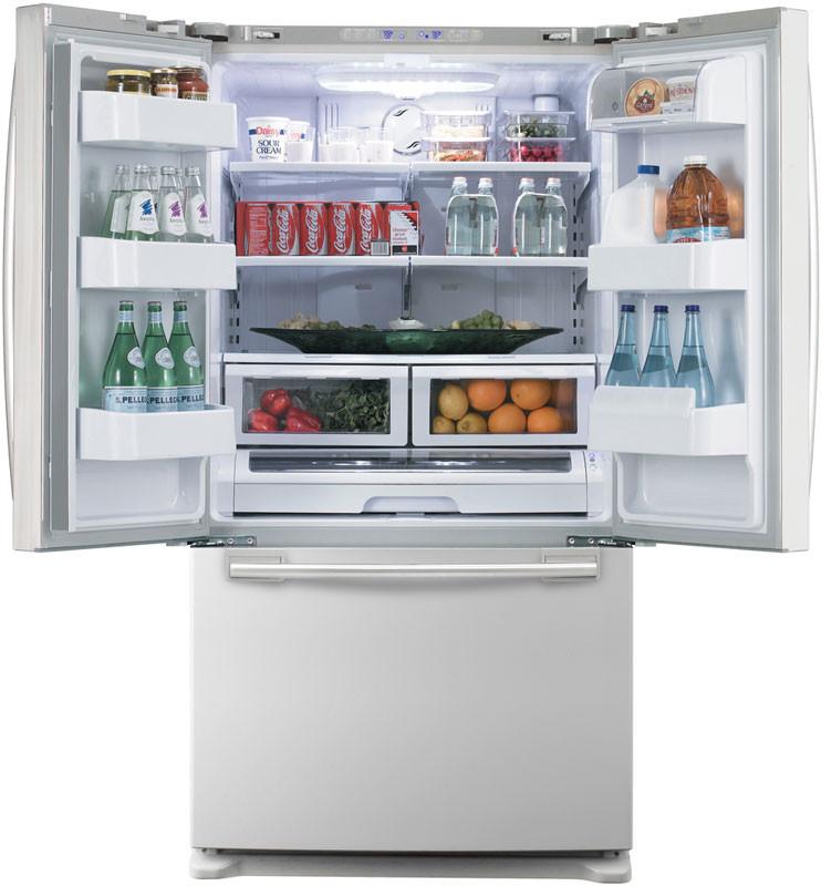 Samsung Rf263aewp 25 8 Cu Ft French Door Refrigerator