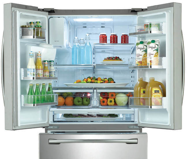 Samsung Rf263beaebc 36 Inch French Door Refrigerator With