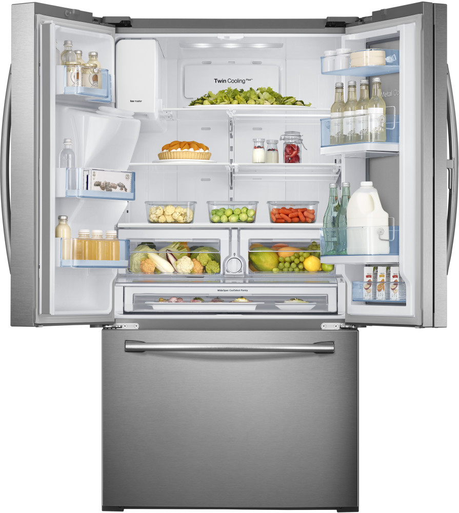 Samsung French Door Refrigerator Temperature Settings: Samsung RF28HDEDBSR 36 Inch French Door Refrigerator With