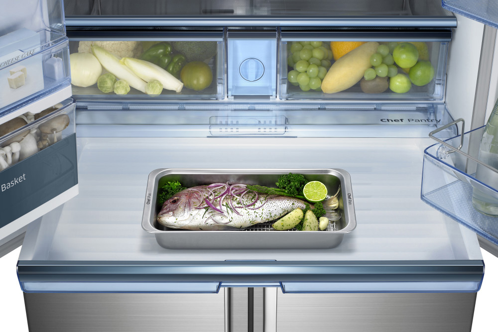 Samsung Rf34h9960s4 36 Inch French Door Refrigerator With