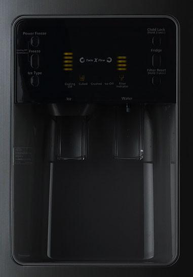 Samsung Rs2530bbp 25 0 Cu Ft Side By Side Refrigerator