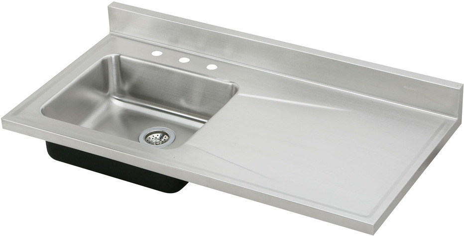 best brand of stainless steel kitchen sink elkay s4819l 48 inch single bowl stainless steel sink top 9717