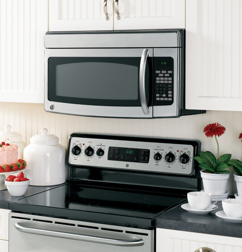 ge jvm1850 1 8 cu ft over the range microwave oven with. Black Bedroom Furniture Sets. Home Design Ideas
