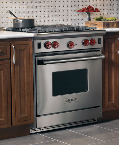 Wolf R304 30 Inch Pro Style Gas Range With 4 Dual Brass