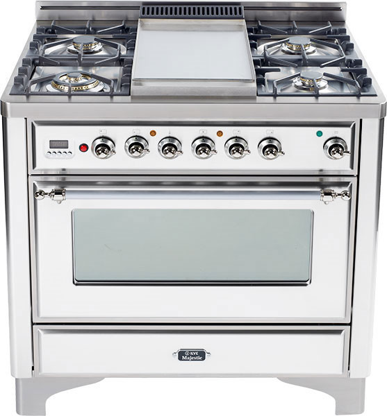 Ilve Um90fvggbx 36 Inch Traditional Style Gas Range With 4