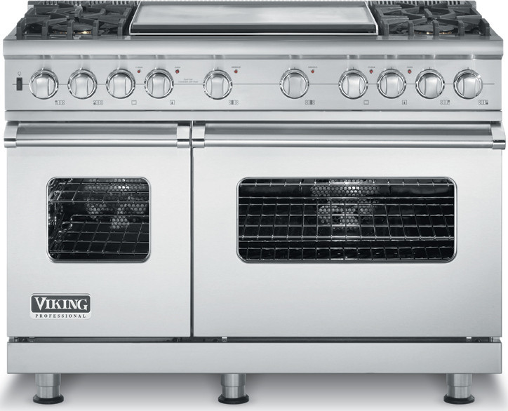 Viking VDSC5484GSS 48 Inch Pro Style Dual Fuel Range with 4 VSH Pro Sealed w