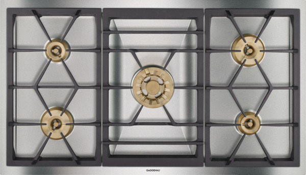 Gaggenau vg491210ca 36 inch gas cooktop with 5 sealed for Viking wok burner