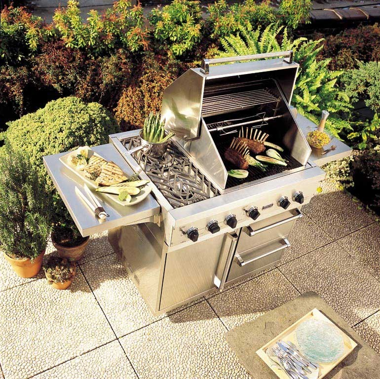 Viking vgbq4122rtn 41 inch built in gas grill with 563 sq for Viking built in grill