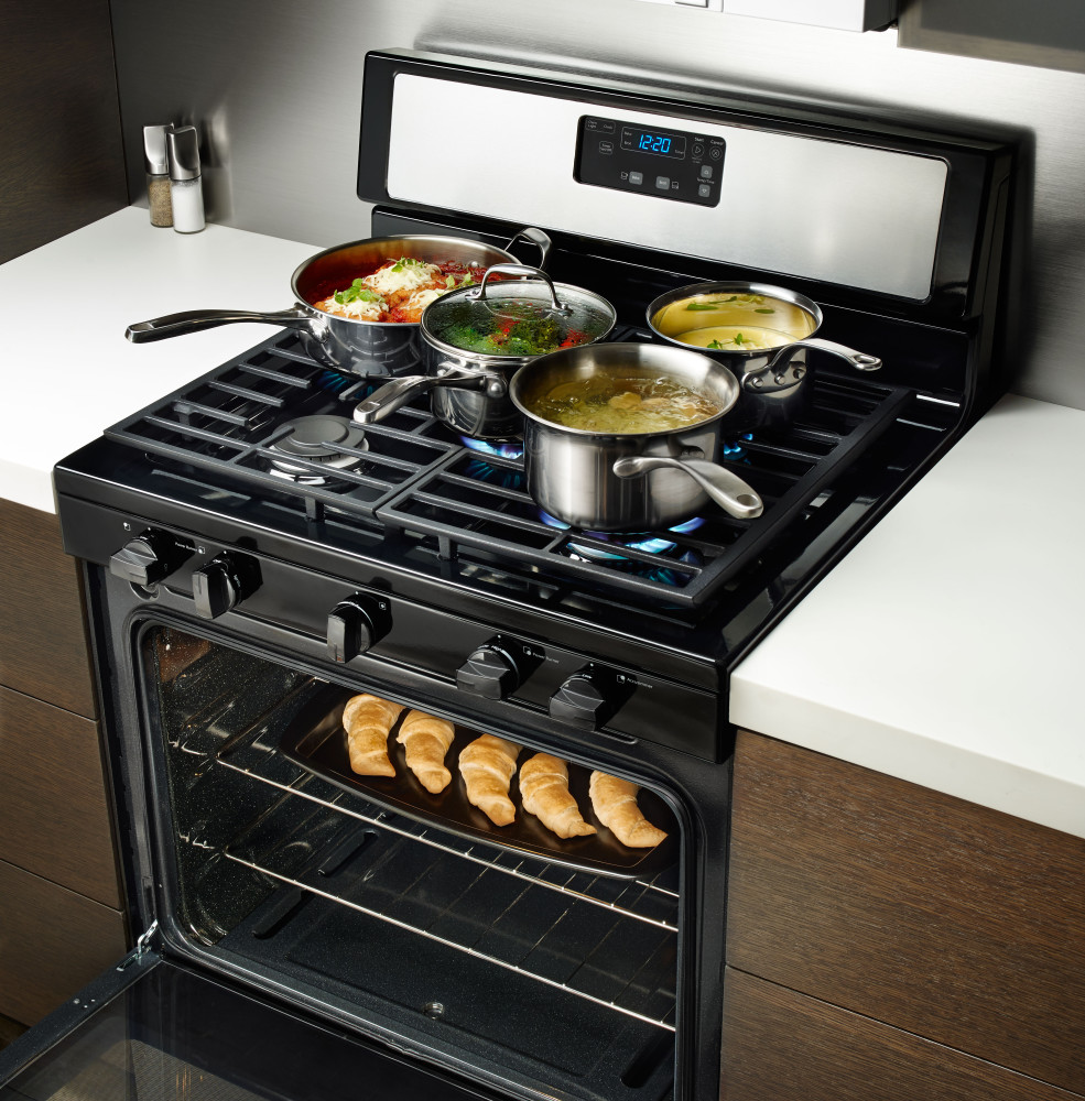 Kitchen Stove Installation Guide: Whirlpool WFG505M0BS 30 Inch Freestanding Gas Range With 5