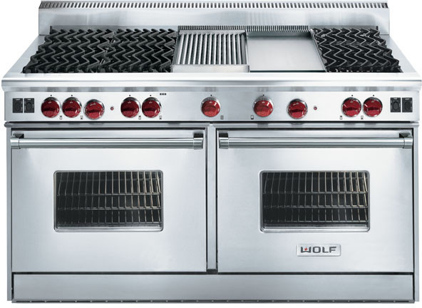 Wolf R606f 60 Inch Pro Style Gas Range With 6 Dual Brass