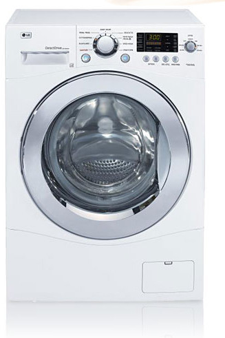 Lg Wm1355hw 24 Inch Compact Front Load Washer With 2 3 Cu