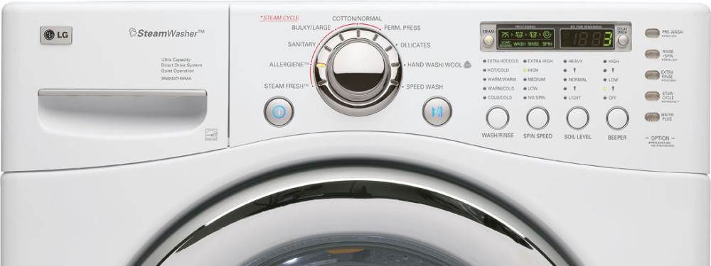 Lg Wm2487hwma 27 Inch Front Load Steam Washer With 4 2 Cu