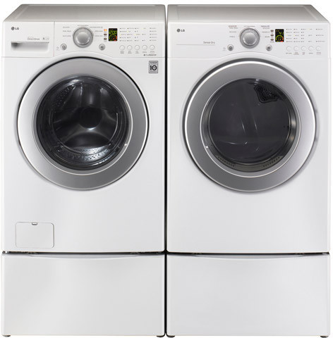 Lg wm2240cw 27 inch front load washer with 3 7 cu ft for Lg direct drive motor