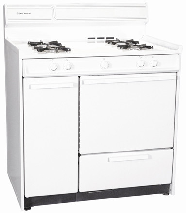 summit wnm4307 36 inch freestanding gas range with lower broiler side storage and electronic. Black Bedroom Furniture Sets. Home Design Ideas