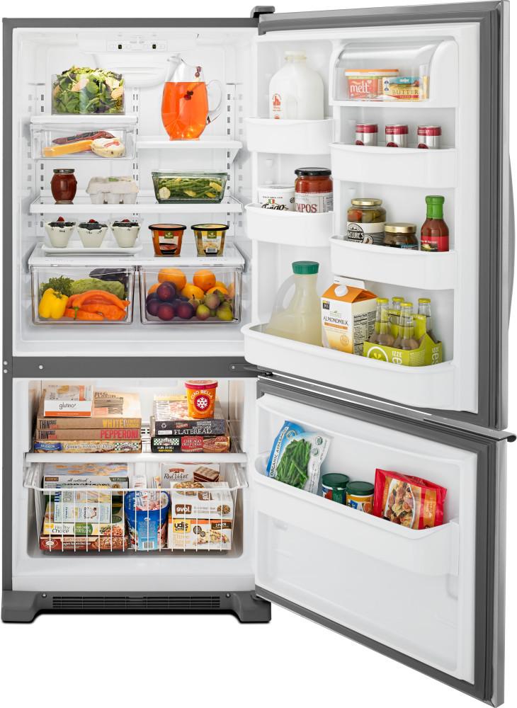 Whirlpool Wrb119wfbm 30 Inch Bottom Freezer Refrigerator