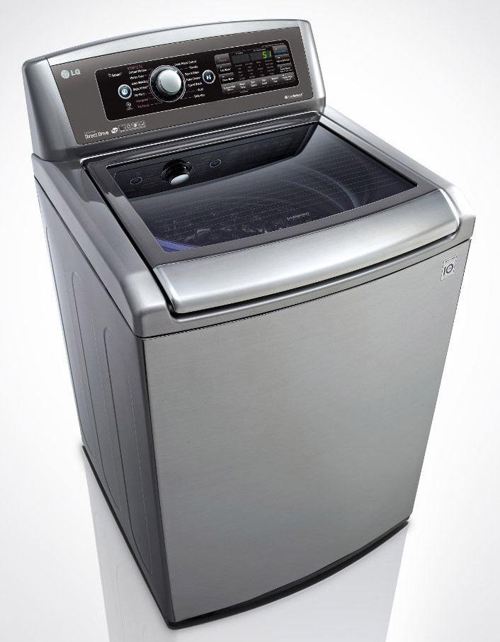 lg wt5680 27 inch 5 0 cu ft top load washer with 14 wash cycles 1 100 rpm steam turbowash. Black Bedroom Furniture Sets. Home Design Ideas