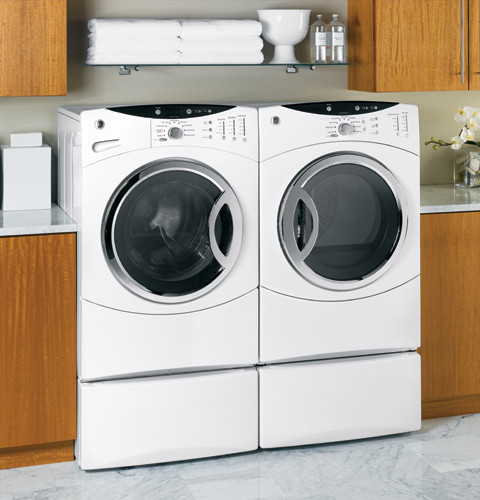 Ge Wcvh6600hww 27 Inch Front Load Washer With 3 8 Iec Cu