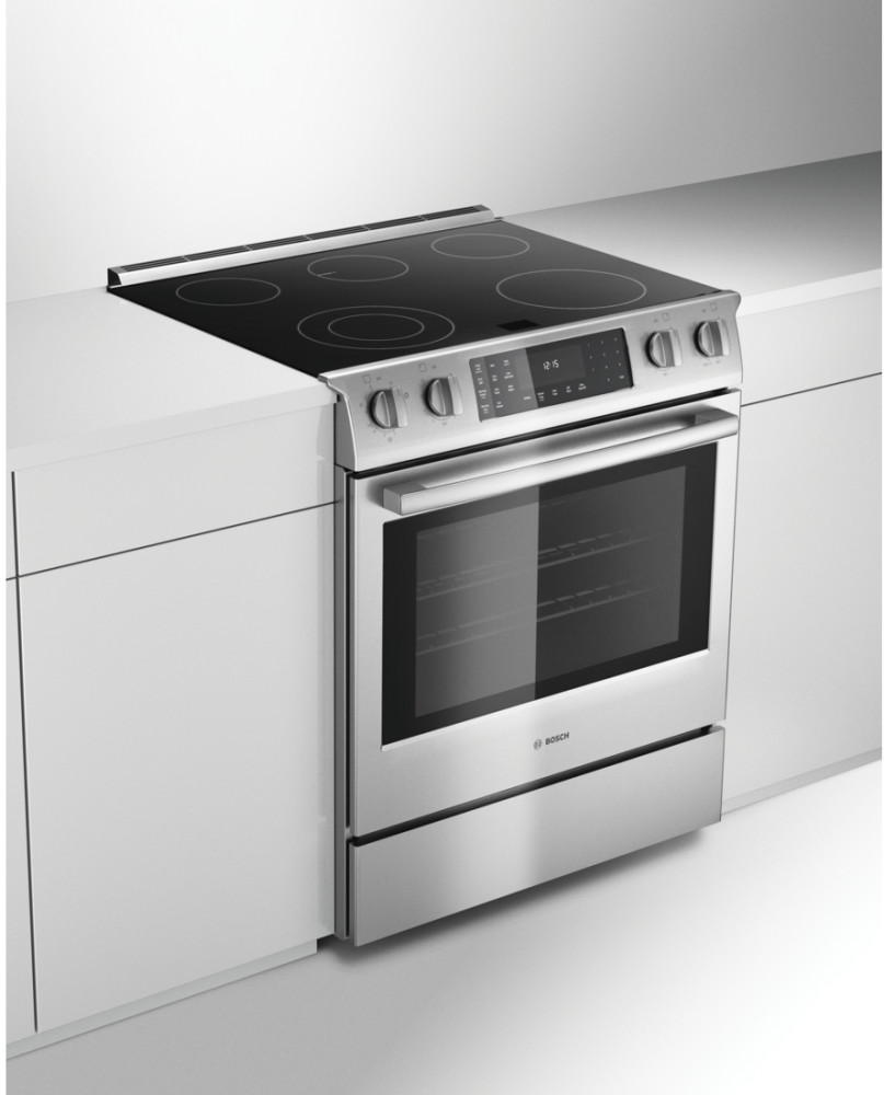 Bosch Hei8054u 30 Inch Slide In Electric Range With 5