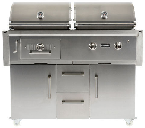 Coyote c1hy50lp 50 inch built in charcoal and gas grill for Coyote outdoor grills reviews