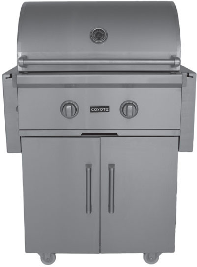 Coyote ccx2ngfs 57 inch freestanding gas grill with 640 sq for Coyote outdoor grill reviews