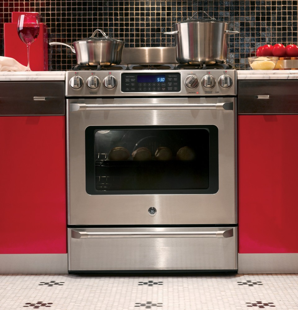 Ge Cgs985setss 30 Inch Slide In Gas Range With 5 4 Cu Ft