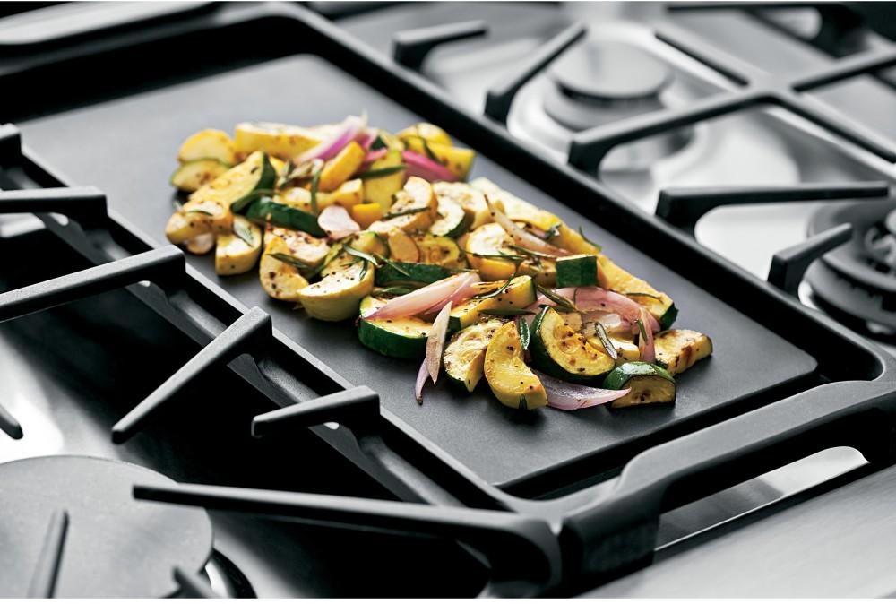 Ge cgs990setss 30 inch slide in double oven gas range with - Cocinas con plancha incorporada ...