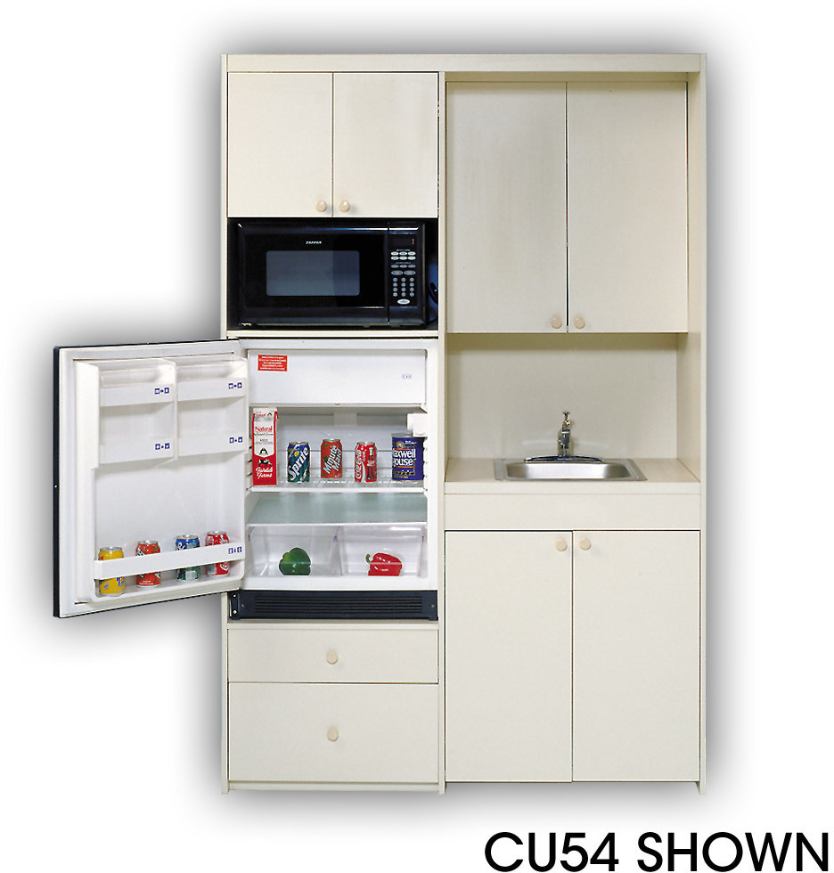 Black Kitchen Units Sale: Acme CU5 Compact Kitchen With Stainless Steel Sink, 1 Cu