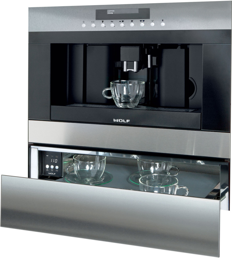 Wolf ec24s 24 inch built in coffee system with adjustable for View maker