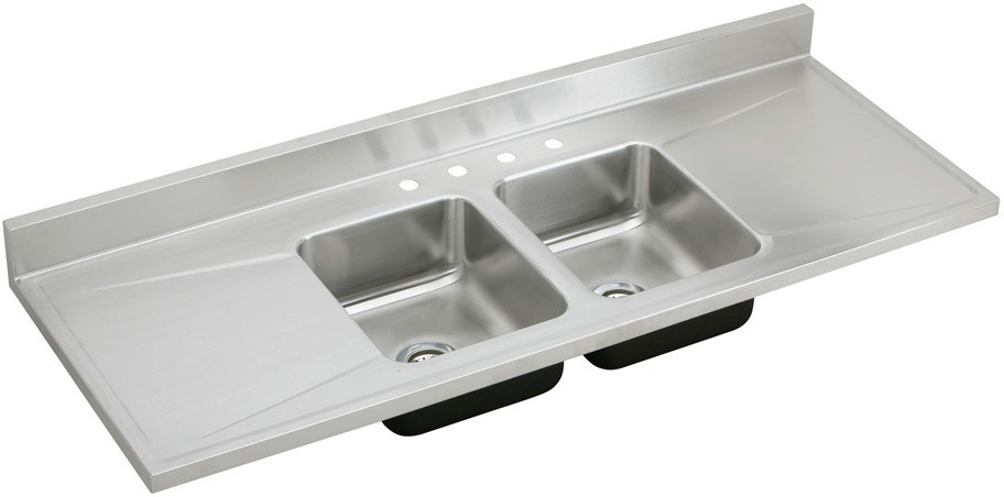 Stainless Steel Double Bowl Kitchen Sink Washboard