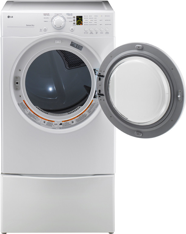 Lg Dle2140w 27 Inch Front Load Electric Dryer With 7 1 Cu