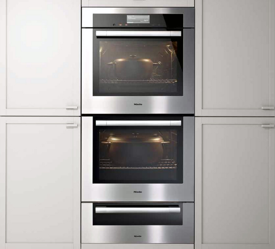 Miele H6780bp2 30 Inch Double Electric Wall Oven With 4 6