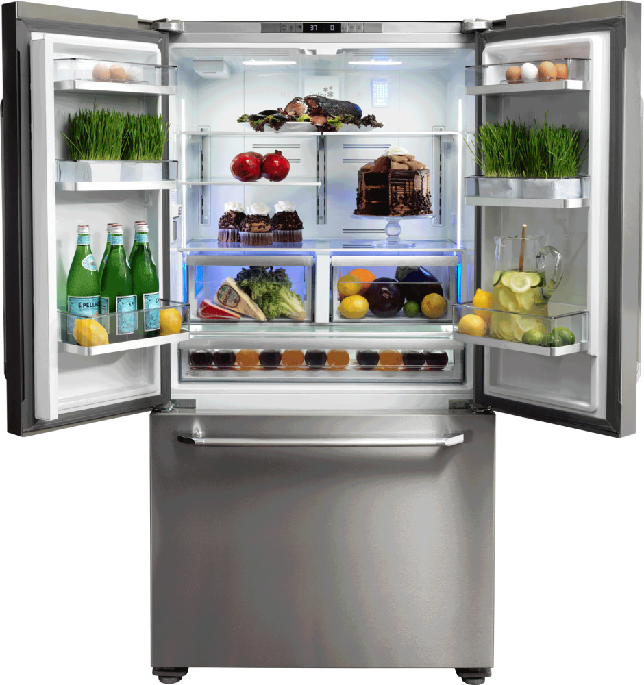 Dacor Dtf36fcs 23 4 Cu Ft French Door Refrigerator With