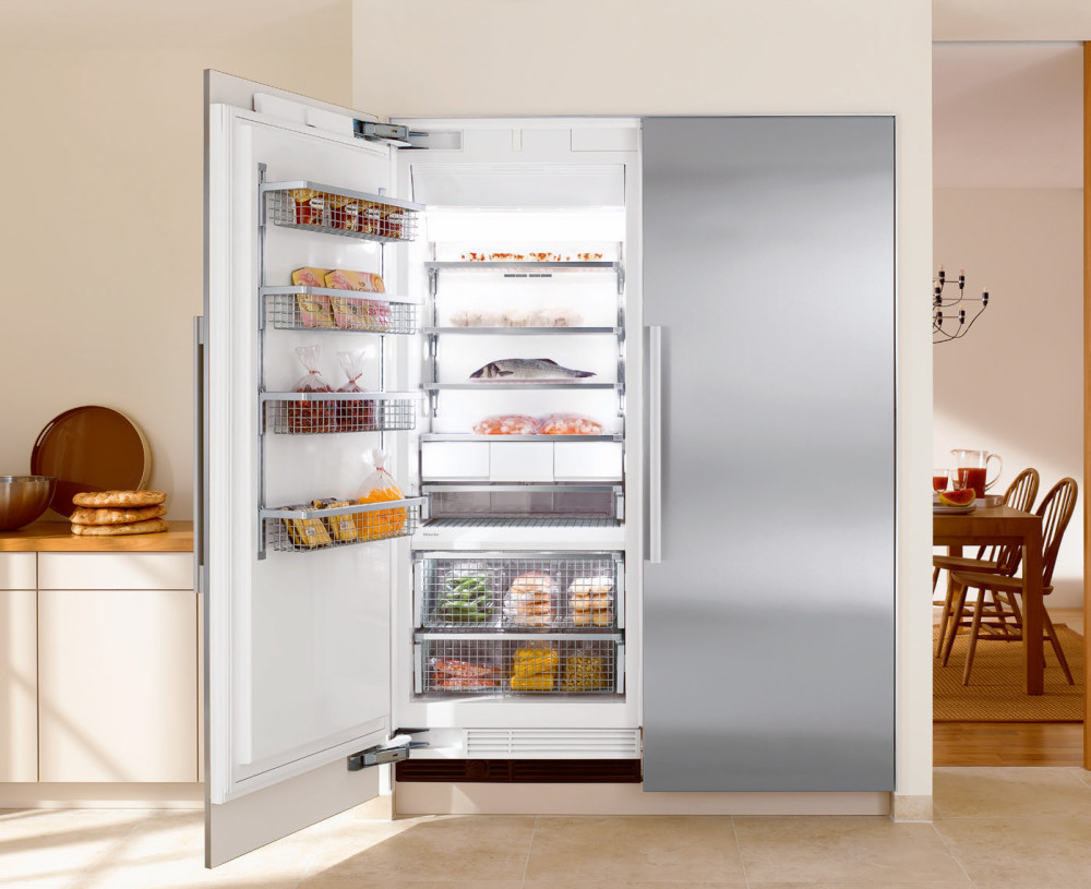 miele f1803 30 inch fully integrated all freezer with. Black Bedroom Furniture Sets. Home Design Ideas