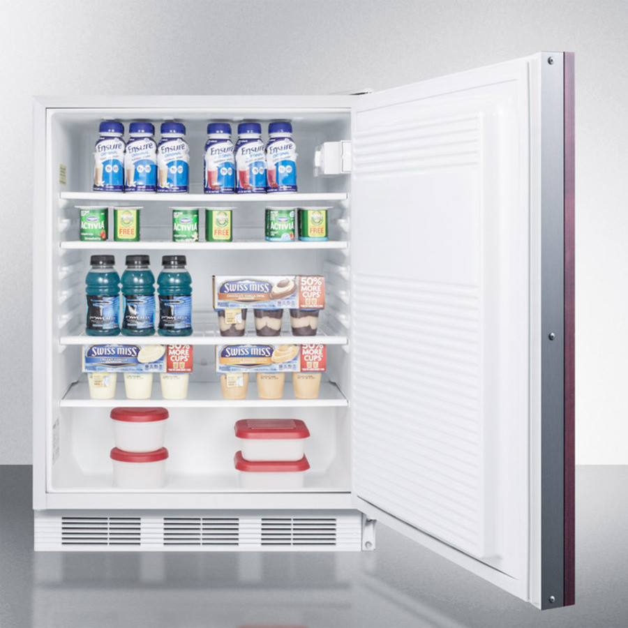AccuCold FF7BIIF 24 Inch Built In Compact Refrigerator