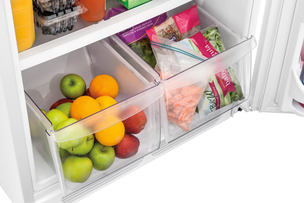 Once you know what humidity level different types of vegetables and fruit need, you can prolong freshness. In the Refrigerator Refrigerator crisper drawers can help maintain the right humidity level, especially if they are kept at least half full.