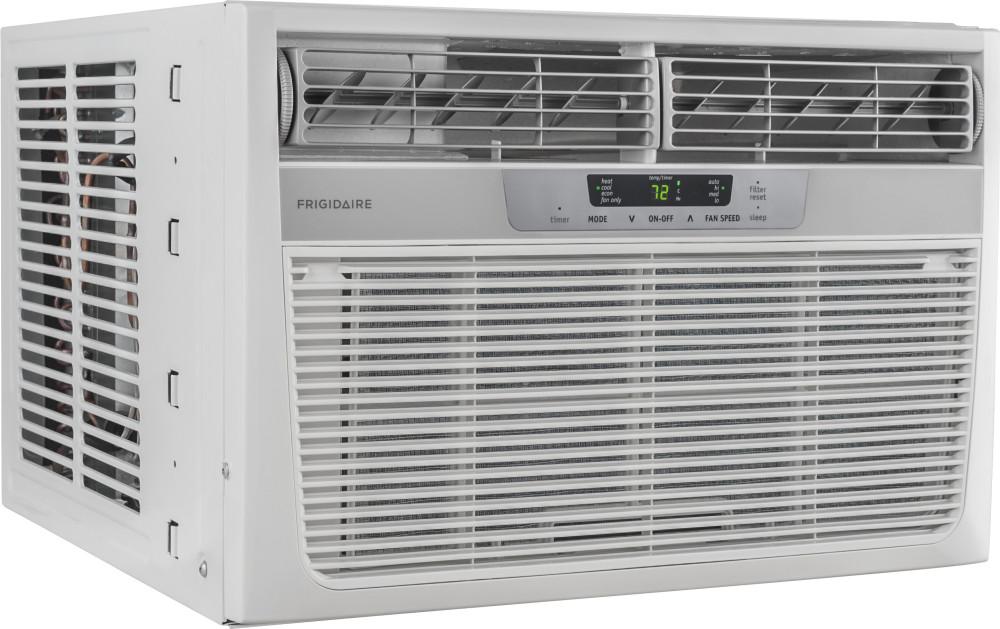 frigidaire ffrh0822r1 8 000 btu room air conditioner with 7 000 btu heat pump 9 8 eer r 410a. Black Bedroom Furniture Sets. Home Design Ideas