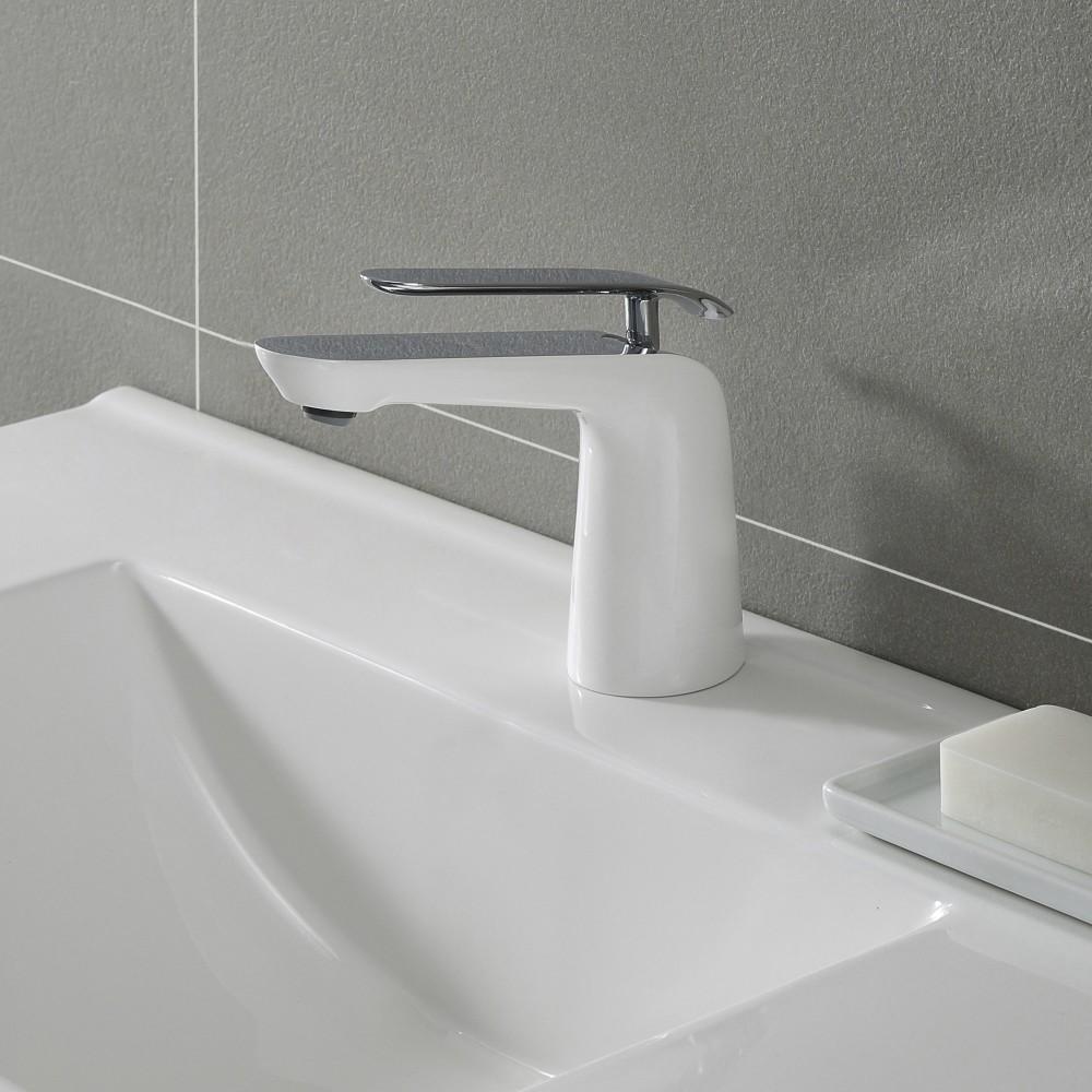 Kraus Fus1821chwh Single Handle Cast Spout Bathroom Faucet