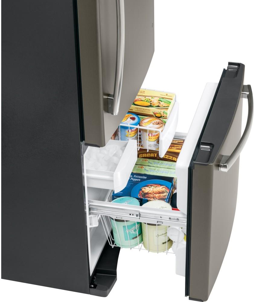 Ge largest capacity freezer bottom ad