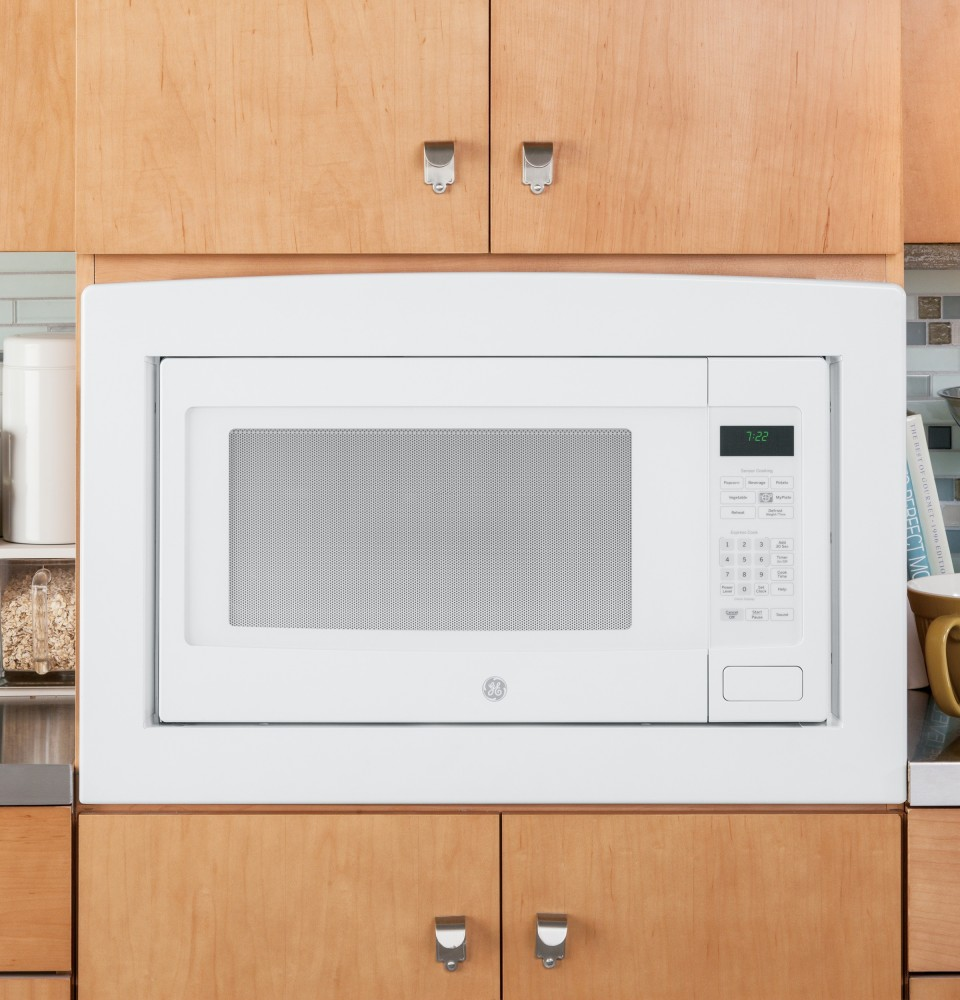 GE PEB7226DFWW 2.2 cu. ft. Countertop or Built-In Microwave Oven with ...
