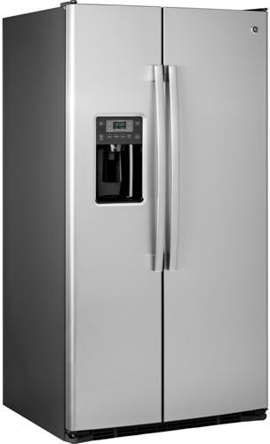 ge gse25gshss 36 inch side by side refrigerator with 25 4. Black Bedroom Furniture Sets. Home Design Ideas
