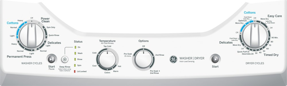 Ge Gud24essjww 24 Inch Electric Laundry Center With 2 0 Cu