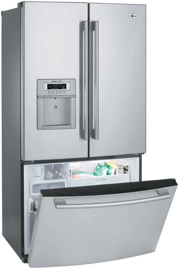 Lg Lrfd25850st 25 Cu Ft French Door Refrigerator W