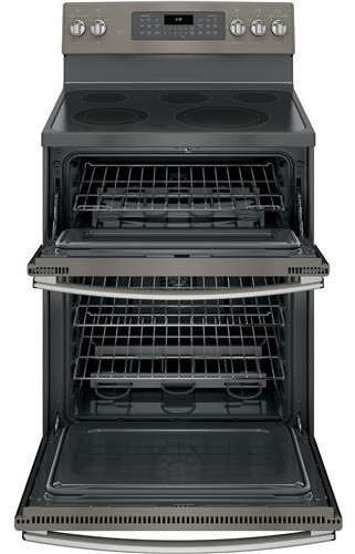ge jb860ejes 30 inch freestanding double oven electric range with 5 smoothtop elements  6 6 cu