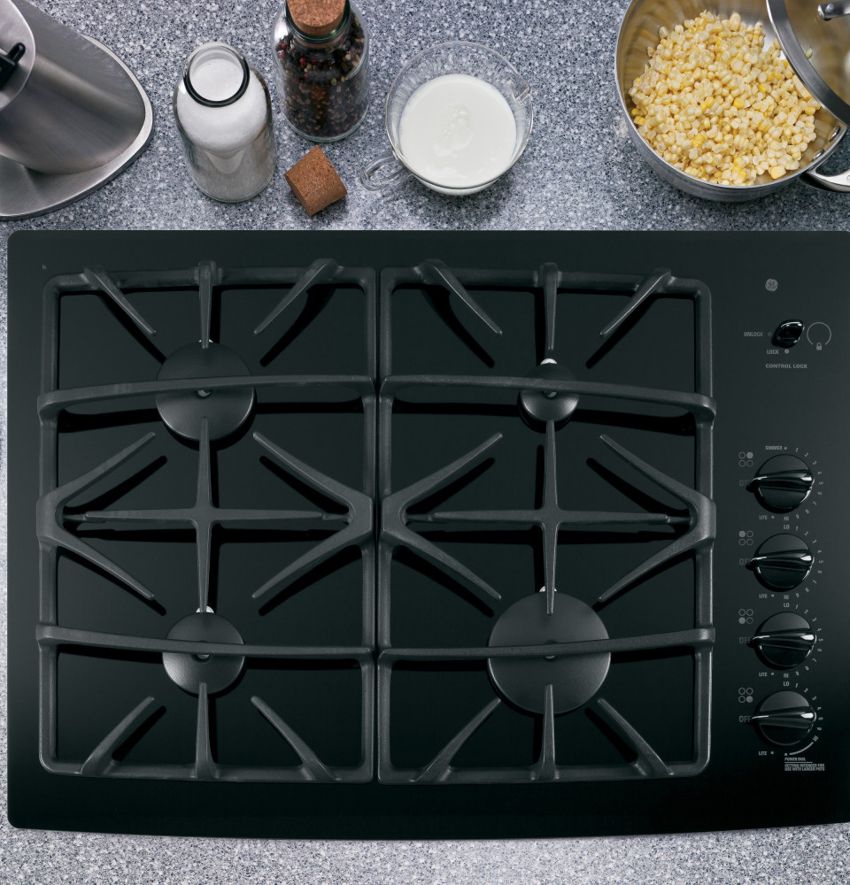 30 Inch Glass Cooktop ~ Ge jgp bekbb inch gas cooktop with sealed burners