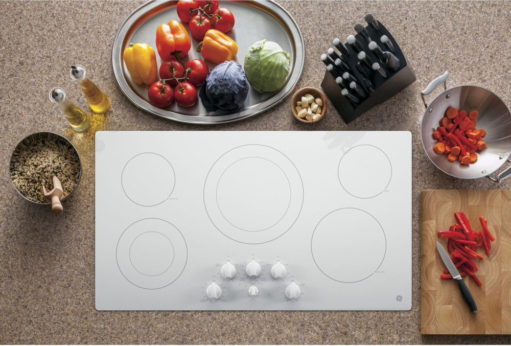 Ge Jp3536tjww 36 Inch Smoothtop Electric Cooktop With 5