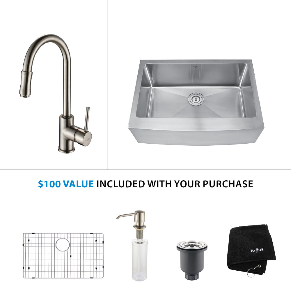 Farmhouse Sink Depth : 30 Inch Farmhouse Single Bowl Stainless Steel Sink ...