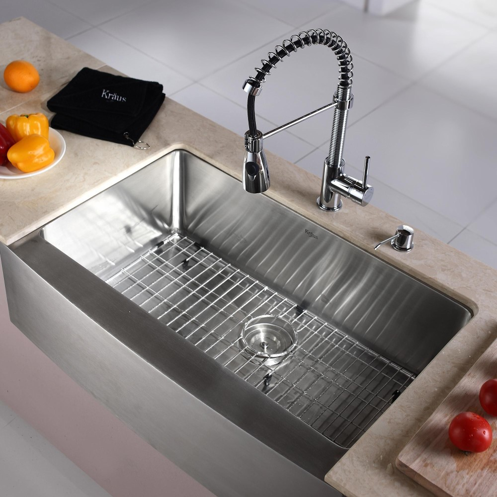 24 Inch Stainless Steel Farmhouse Sink : 33 Inch Farmhouse Single Bowl Stainless Steel Sink ...