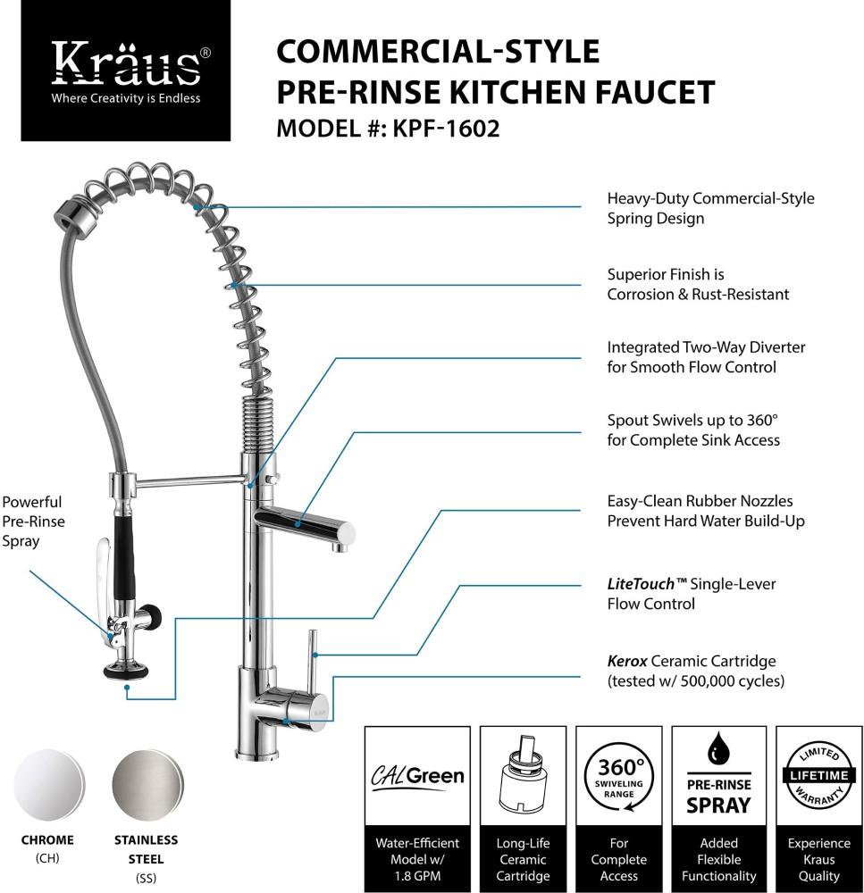 Kraus Kpf1602ksd30ss Single Lever Spiral Spring Kitchen