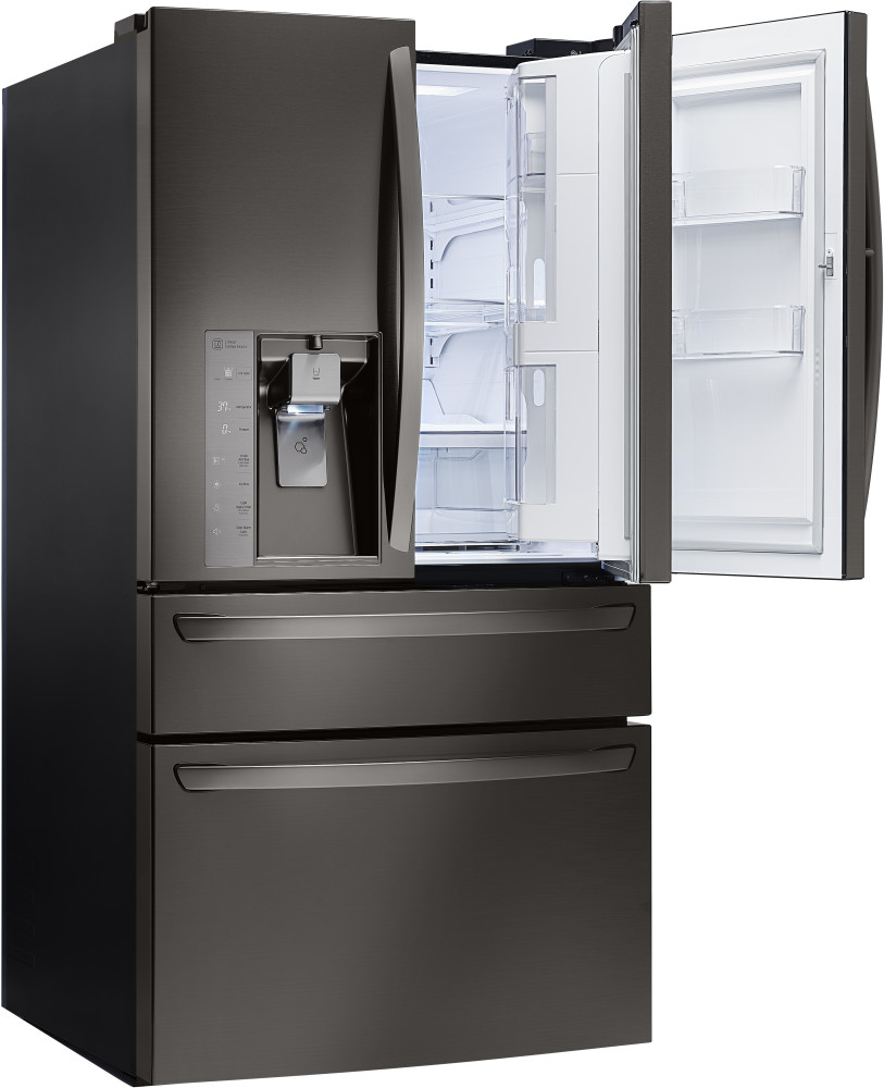 lg lmxs30776d 36 inch french door refrigerator with 29 7 cu ft capacity glide n 39 access shelf. Black Bedroom Furniture Sets. Home Design Ideas